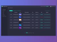 Backstage interface丨UI/UX Design