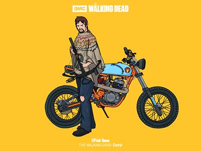 THE WALKING DEAD-Daryl illustrations
