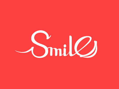 Smile typography illustration