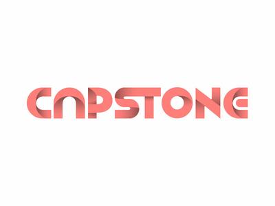 Capstone experiment custom type vector typography logo
