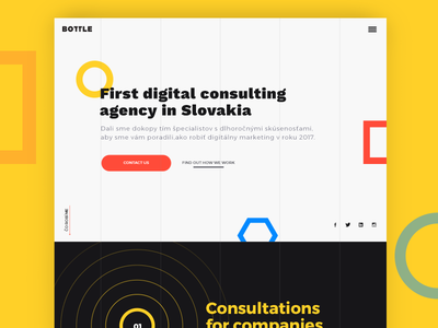 Bottle Digital agency consultant interface elements typography clean ui ux webdesign web