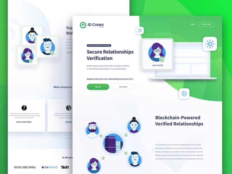 ID Codes Exploration branding logo identity design illustration blockchain crypto green webdesig ux ui landing page