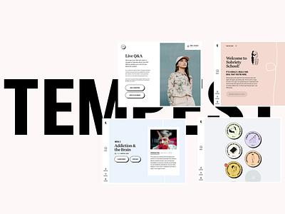 Tempest Case Study animation web bold pastel sobriety school learning app typography case study