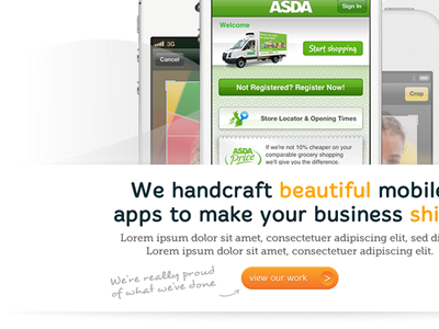Catalyst Mobile - Website and Branding branding clean ui white iphone bright mobile web design website orange friendly logo button handwritten type