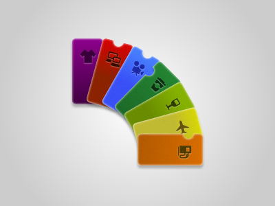 Passbook Cards passbook iphone cards vouchers offers rainbow coffee wine clothes