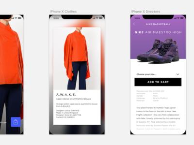 iPhone X Ecommerce Proof of Concept v2 ecommerce iphonex sneakers kicks