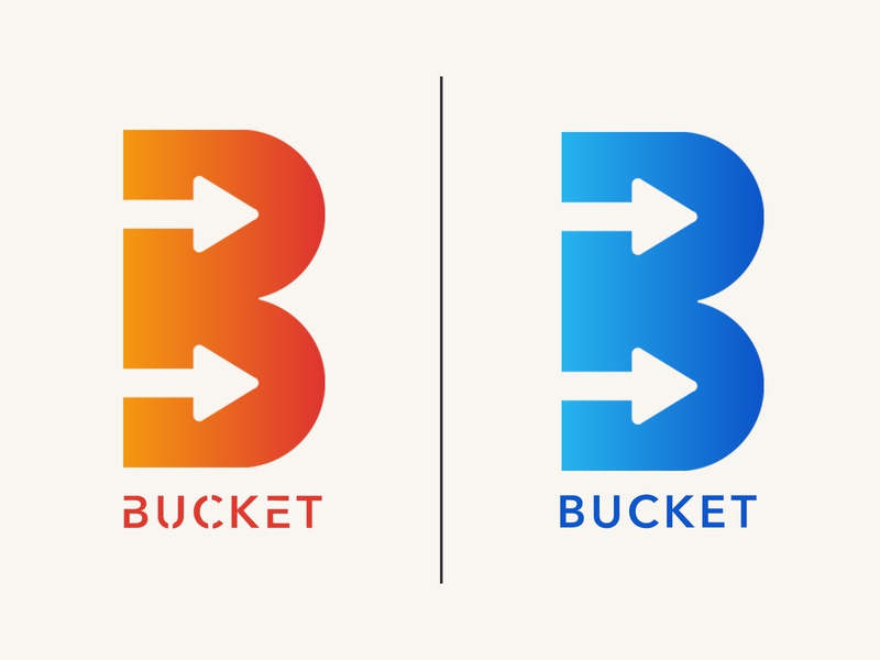 Bucket Logo Design logodesign logotype artist art icon app ux ui typography design vector illustration branding logo
