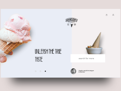 Ice Cream product page