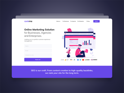Total solution service for SEO b2b solution seo marketing system web product design ux ui