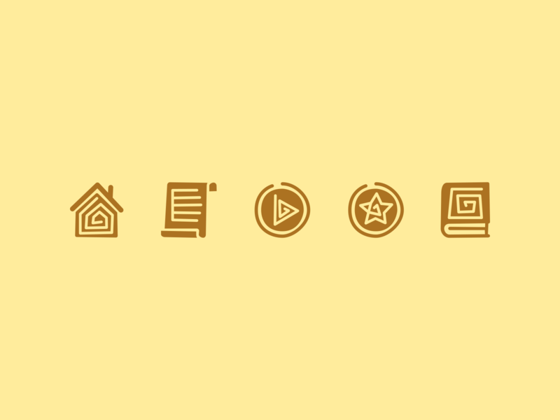 Ancient culture icons