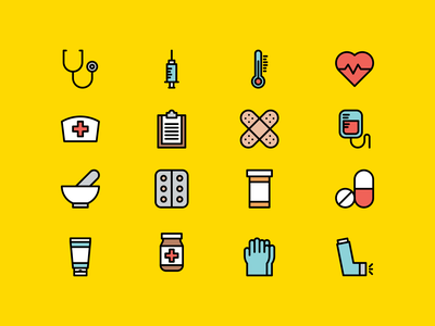 Pharmacy icons health pharmacist pharmacy hospital doctor minimalistic lines design illustration vector linear line minimal icons minimalism minimalist icon