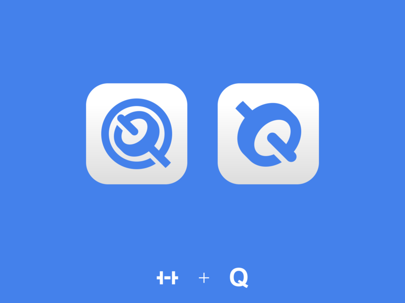 Q app icon workout fit fitness gym weight mark monogram q app icon app branding logo minimalistic design illustration vector minimal minimalism minimalist icon