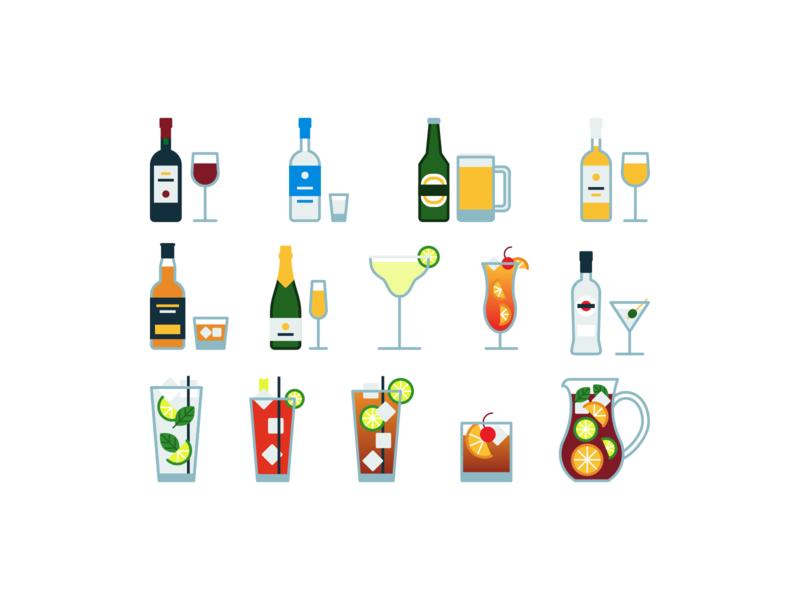 Alcoholic drinks liquid glass wine beer alcoholic drinks alcohol drinks drink lines minimalistic linear design line illustration vector minimal icons minimalism minimalist icon