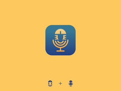 Egyptian voice assistant app icon artificial intelligence ai voice assistant voice microphone egyptian egypt app icon app branding minimalistic design illustration vector minimal icons minimalism minimalist icon