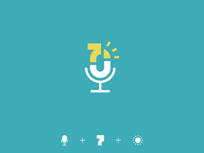 Advent podcast seven 7 sun microphone podcast advent branding logo minimalistic design illustration vector minimal icons minimalism minimalist icon
