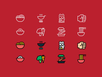 Noodle icons food asian noodles noodle lines linear line minimalistic design illustration vector minimal icons minimalism minimalist icon