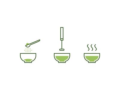 Matcha icons green tea tea matcha linear icons linear icon lines line linear design illustration vector minimal icons minimalism minimalist icon