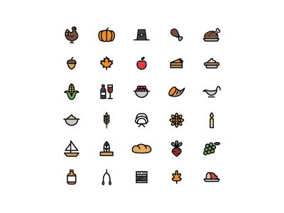 Thanksgiving Icons By Aldo Cervantes Saldana On Dribbble