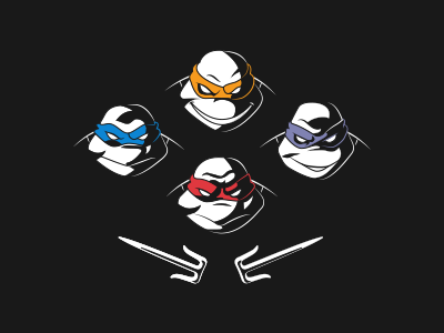 TMNT x Queen bohemian rhapsody parody ninja mutant teenage turtle vector illustration queen tmnt