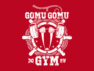 Gomu Gomu Gym manga anime devil fruit gomu gomu excercise workout fitness gym pirates pirate luffy one piece