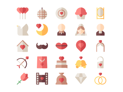 Wedding pt. 2 groom bride wed wedding color minimalism minimalist icons icon