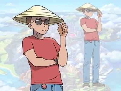 Pokémon self-portrait