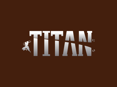 Titan illustration lettering logo eren titans titan attack on titan manga anime