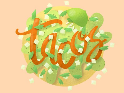 Tacos lettering