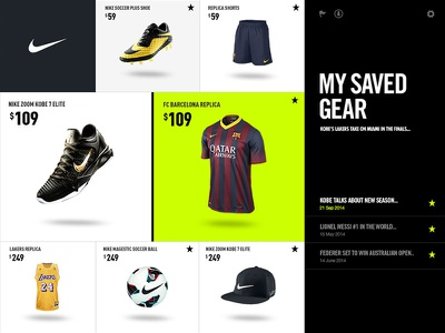 Nike Ecomm Tablet interactive tablet interface ui nike