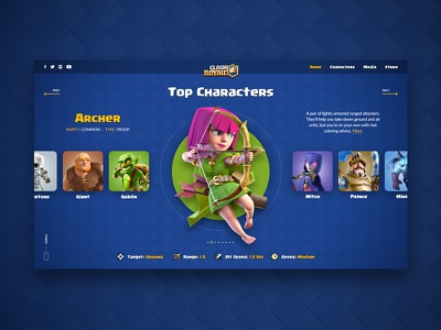 Clash Royale Character Screen game website supercell