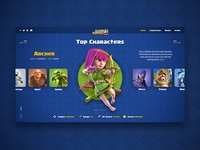 Clash Royale Character Screen
