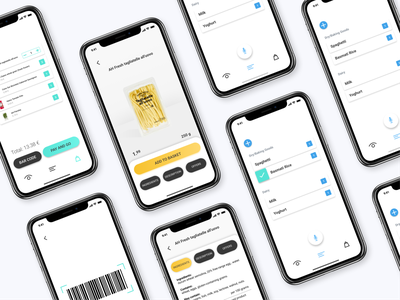 Shopon - super assistant for the visually impaired mobile ios barcode app yellow minimal accessibility scanning ai detection ai supermarket colorful ux ui design ui design clean