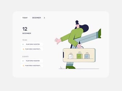 To do list concept illustration mobile design ui mobile app design after effects animation motion