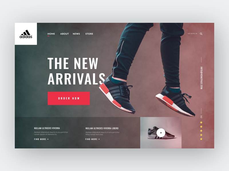 Adidas Header Layout layout website sneakers ecommerce shoes addidas header ux ui design