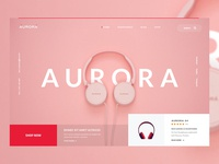 Aurora Headphones Header Layout