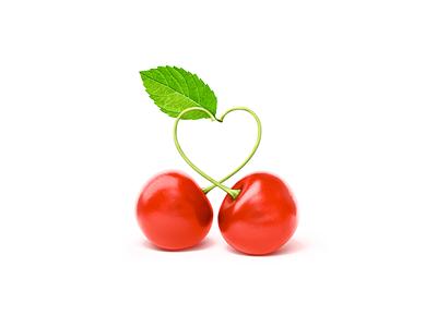 Cherry minimal website app design vector web clean flat illustrator illustration icon