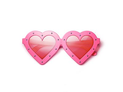 Sunglasses love heart sunglasses design animation app branding illustrator vector illustration icon