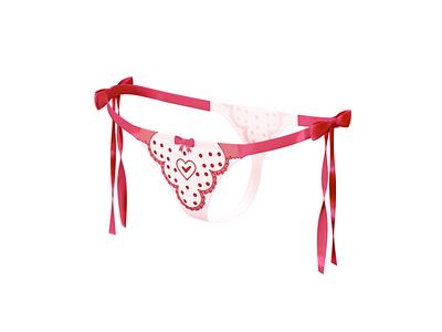 Panties girl underwear love panties illustrator app design branding vector illustration icon