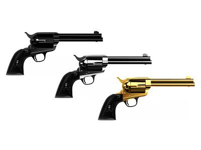 Colt 2d 3d icon colt gun branding typography illustrator illustration