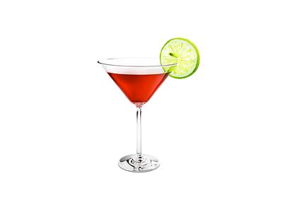 Cocktail glass cocktail illustrator flat vector design illustration