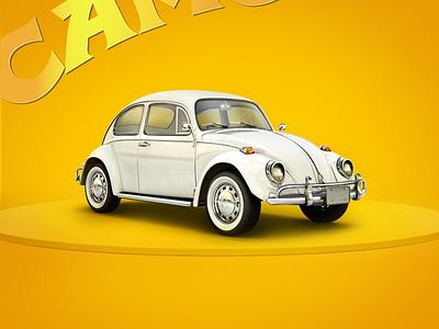 Beetle for Camel logo web website icon car design illustrator beetle camel illustration