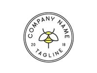 Bee Emblem Logo