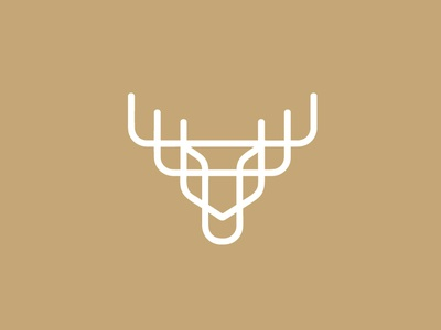 Moose Logo deers antler moose simple logo for sale illustration branding animal minimalist logo