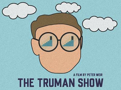 The Truman Show Illustration movie noise adobe poster illustration trumanshow