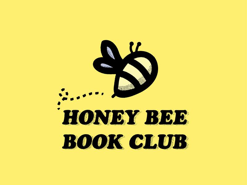 Honeybee Book Club social media brand identity brand logo illustration design