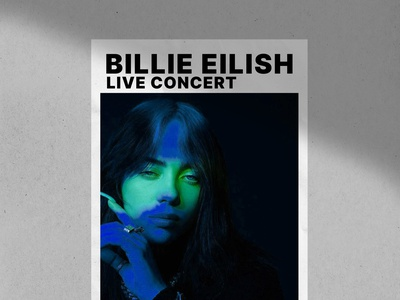 Billie Eilish Posters popart posters design logo illustration branding billie eilish