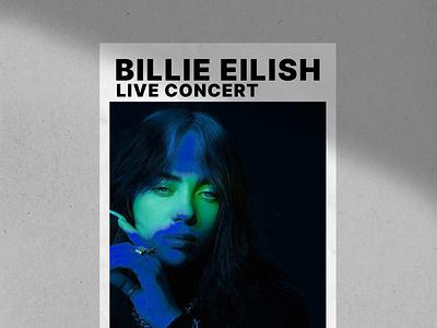 Billie Eilish Posters popart posters design logo illustration branding billie eilish