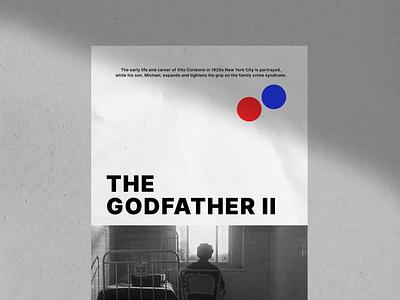 The Godfather II Movie Posters typography adobe illustrator branding illustration imagine design wallart artwork film poster digitalart popart movie film