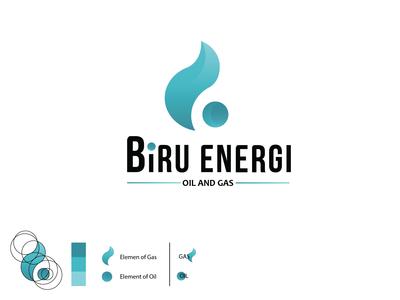Logo Concept [ Biru Energi . Oil and Gas ]