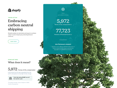 Impact Page Iteration forest tree carbon typography vector icons editorial icon design landing ux ui flat